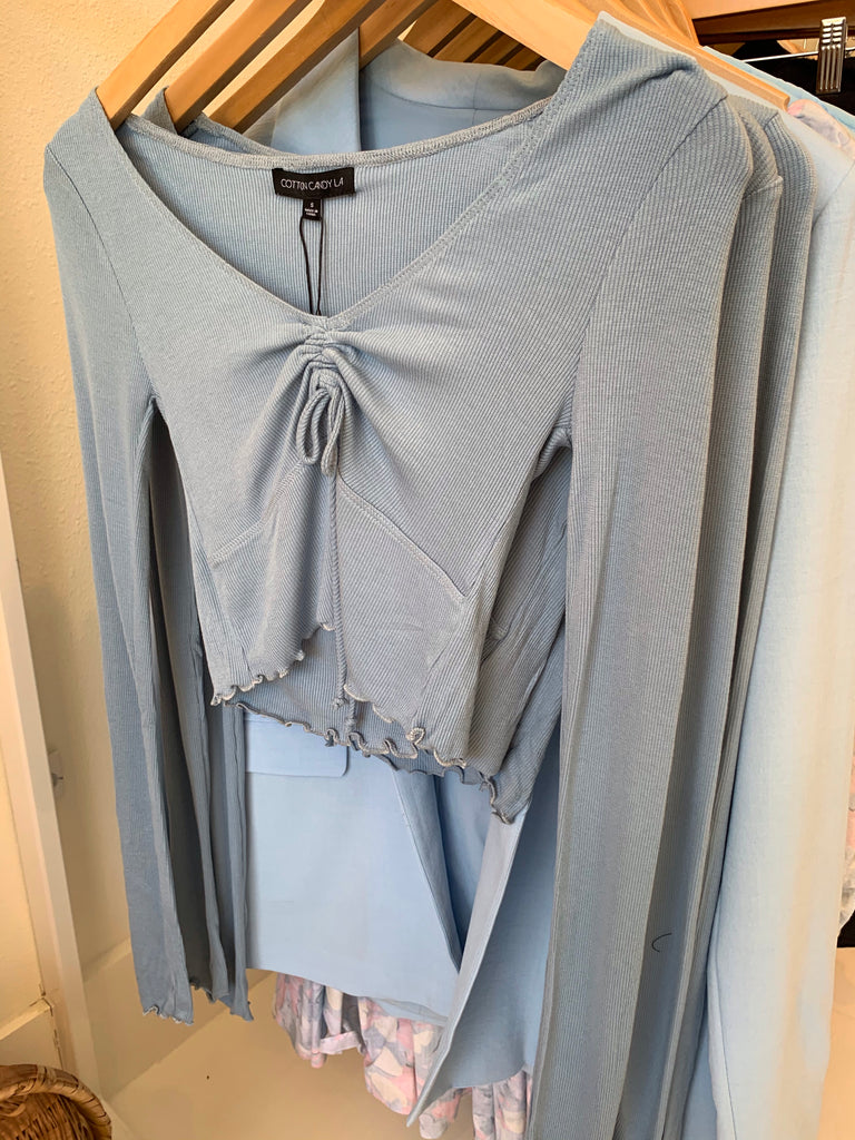 Long Sleeved Ruffle Top