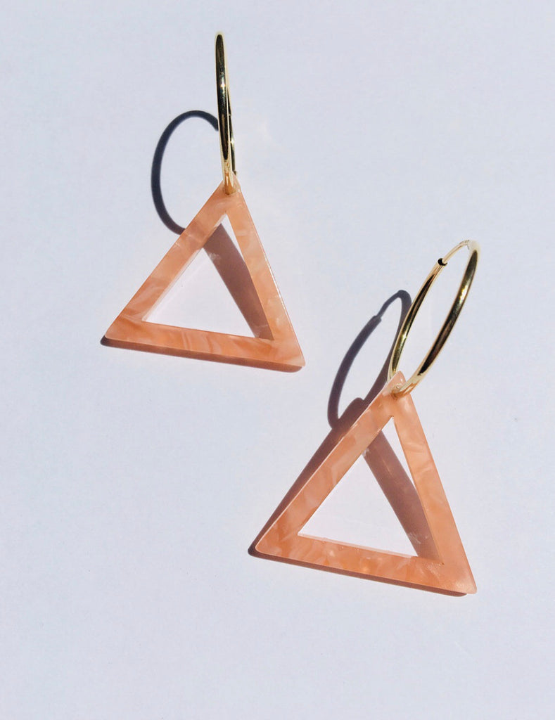 Paradigm Pink Triangle Frame Hoops