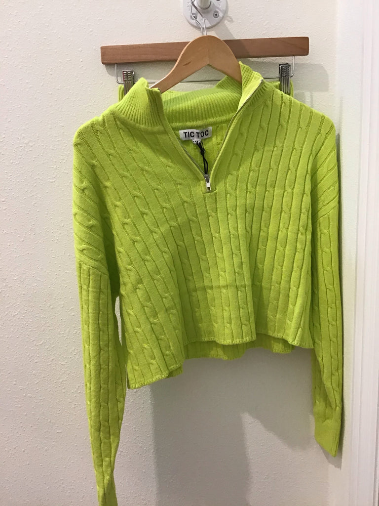 Neon Green Knit Set