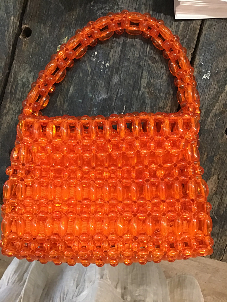 Vintage Creamsicle Bead Bag
