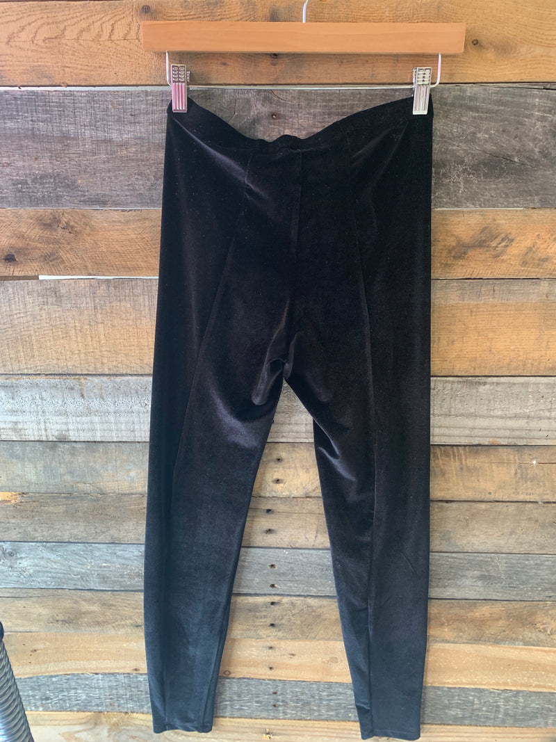 BJB Black Velvet Leggings