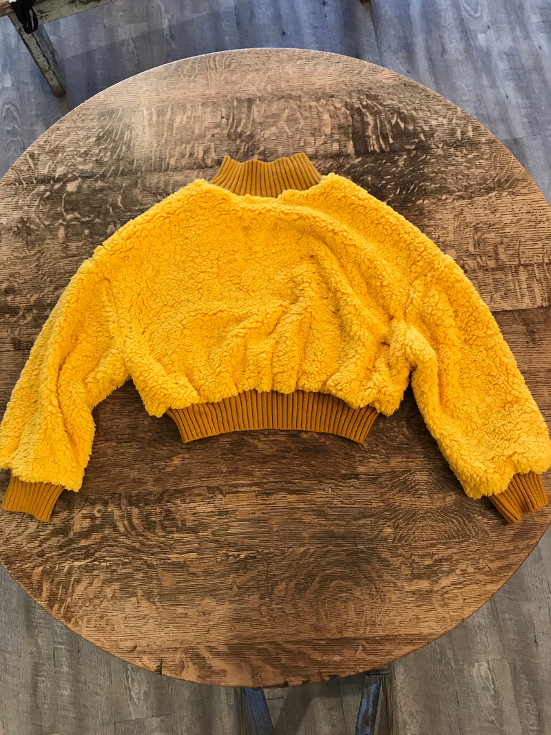 THINKABLE Teddy Sweater Mustard
