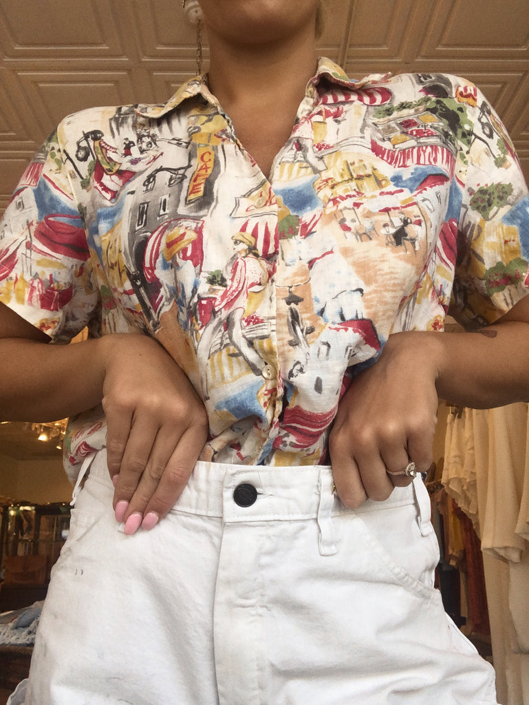 Vintage Beach Button Down