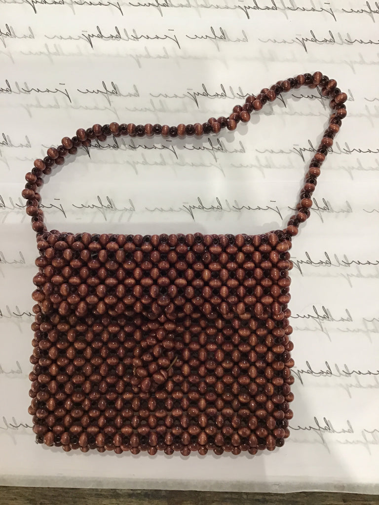 Vintage Cocoa Beaded bag