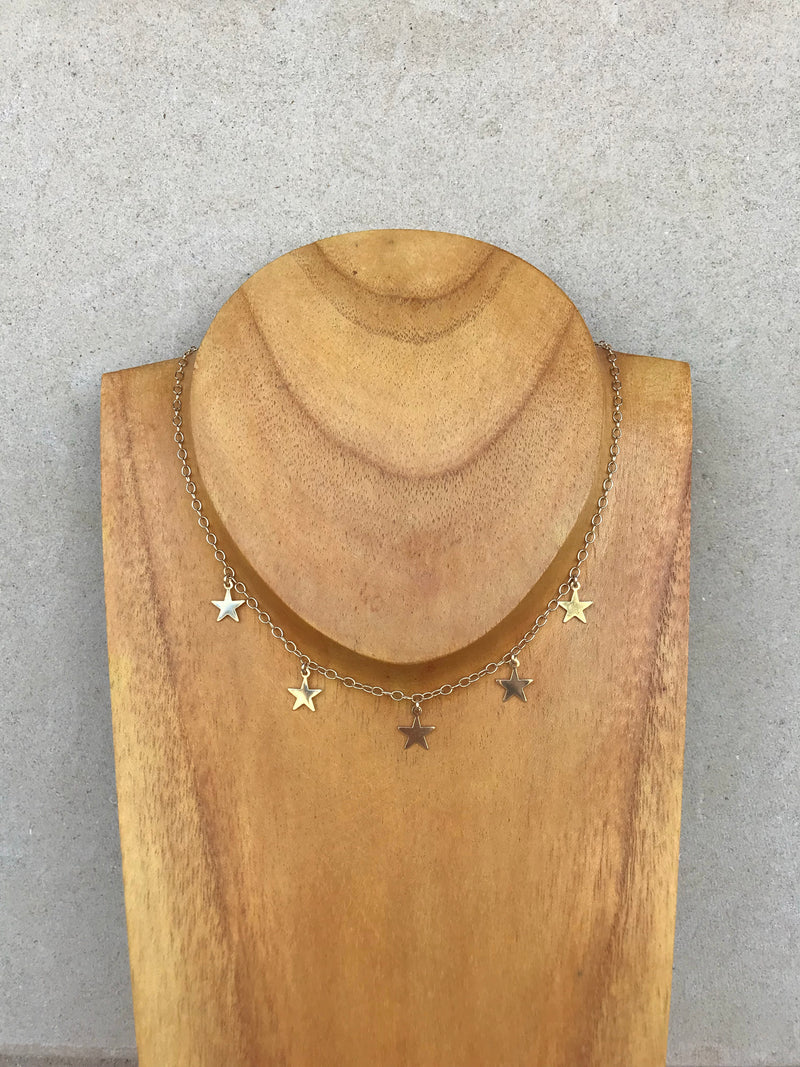 GOLD STAR CHOKER Joy Dravecky Jewelry