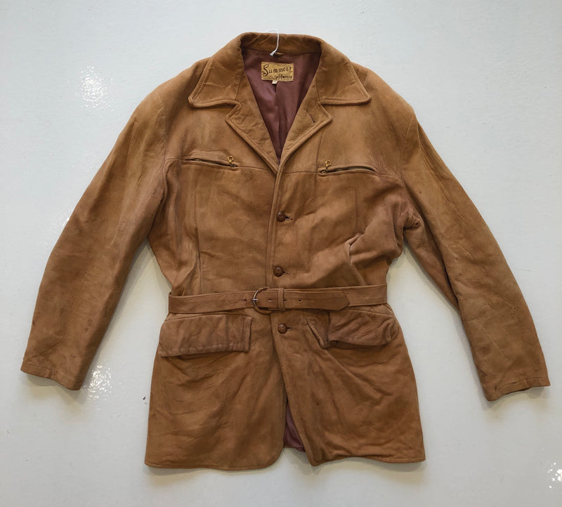 Vintage Suede Jacket with Belt