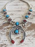 "Navajo ""Squash Blossom"" Turquoise Necklace"