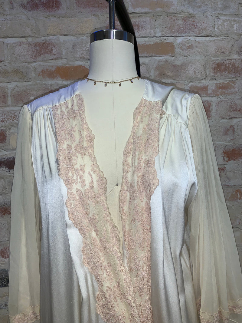 Vintage French  embroidered robe