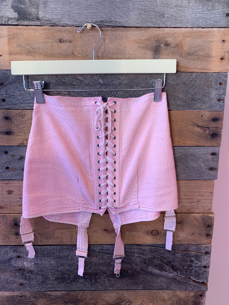 Pink Lace Up Corset