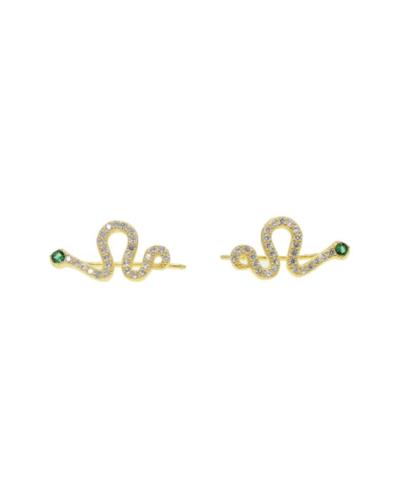 Farrah B b Snake Earrings
