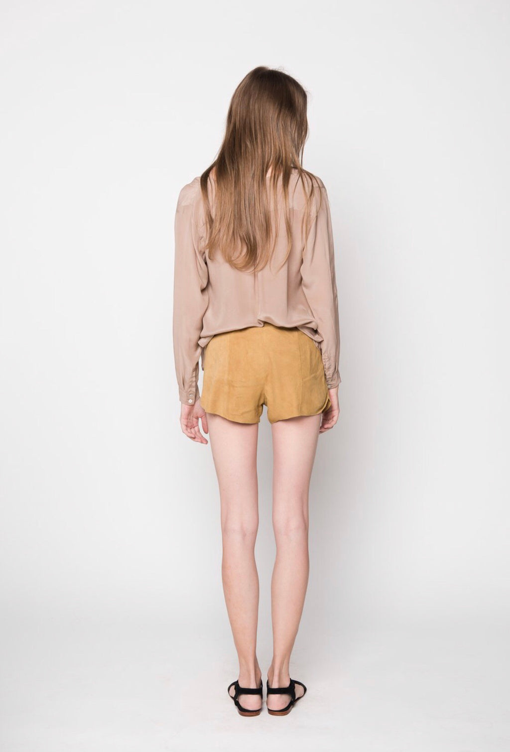 Uma & Leopold Suede Leather Shorts