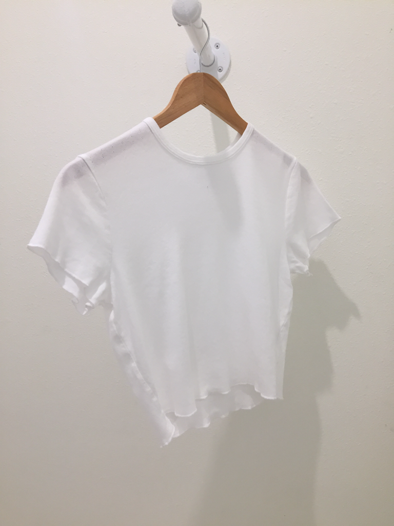 Short Sleeve Pointelle Top