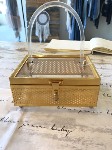 Stylecraft Miami lucite wicker box purse