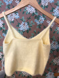 O & O yellow fuzzy tank
