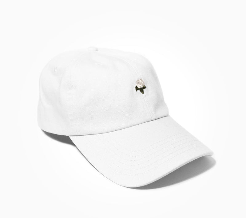 White Rose Dad Hat - Women's Hats