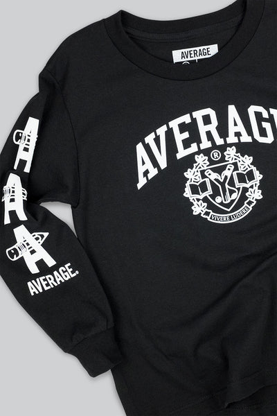 Collegiate Long Sleeve T Black