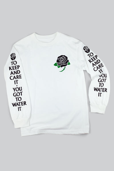 BLACK ROSE LS (ADULT) T