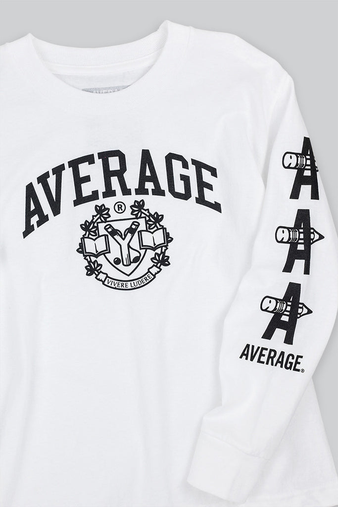 Collegiate Long Sleeve T White