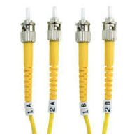 12 Strand Tactical Single Mode ST to ST Fiber Cable 750'