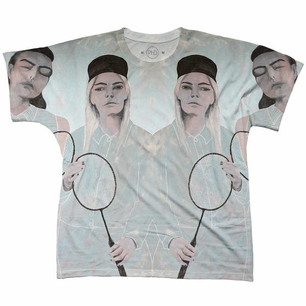 Camiseta Lisa Horn Your Local Badminton Gang Frente