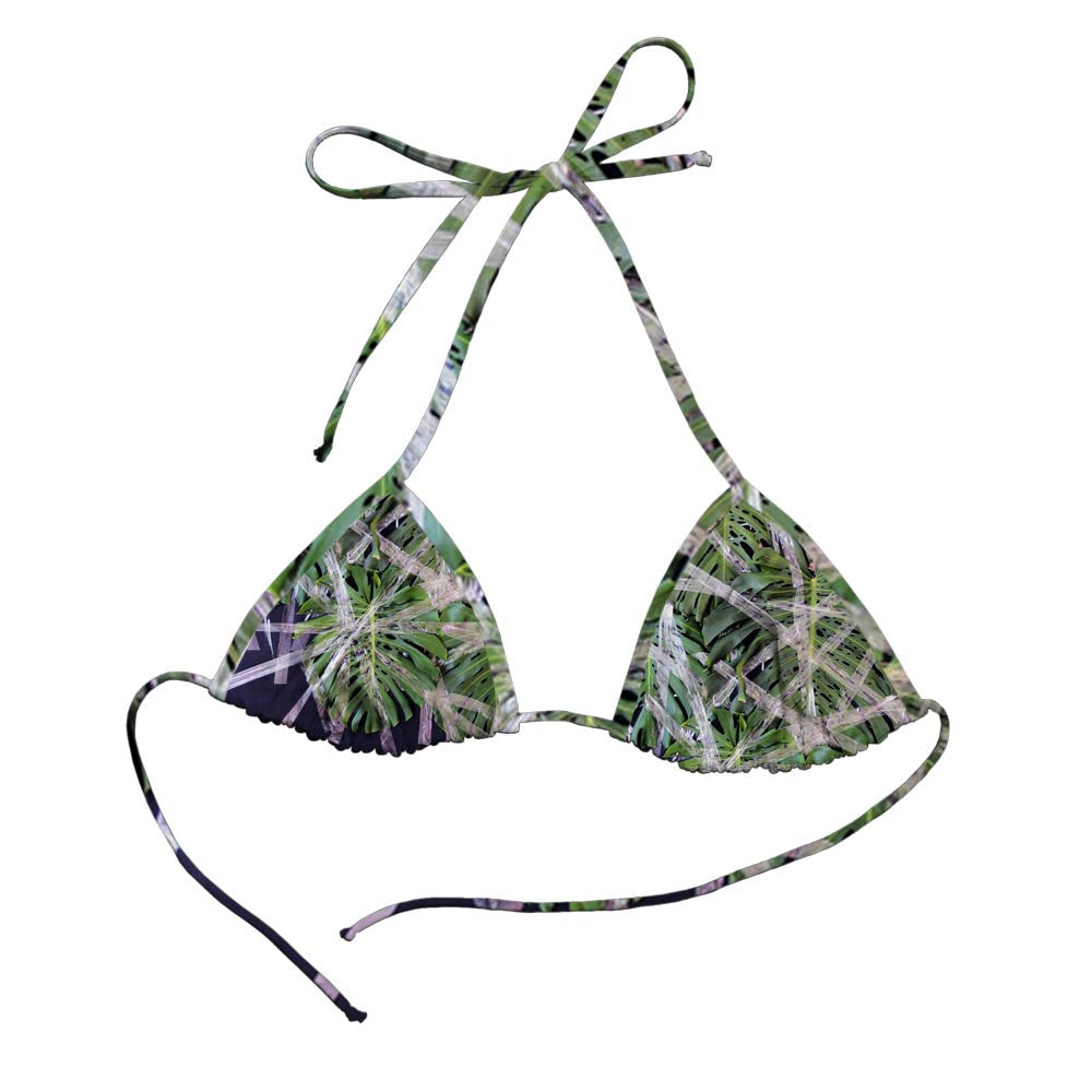 Bikini Top Cortininha Manuela Eichner Monstera Frente