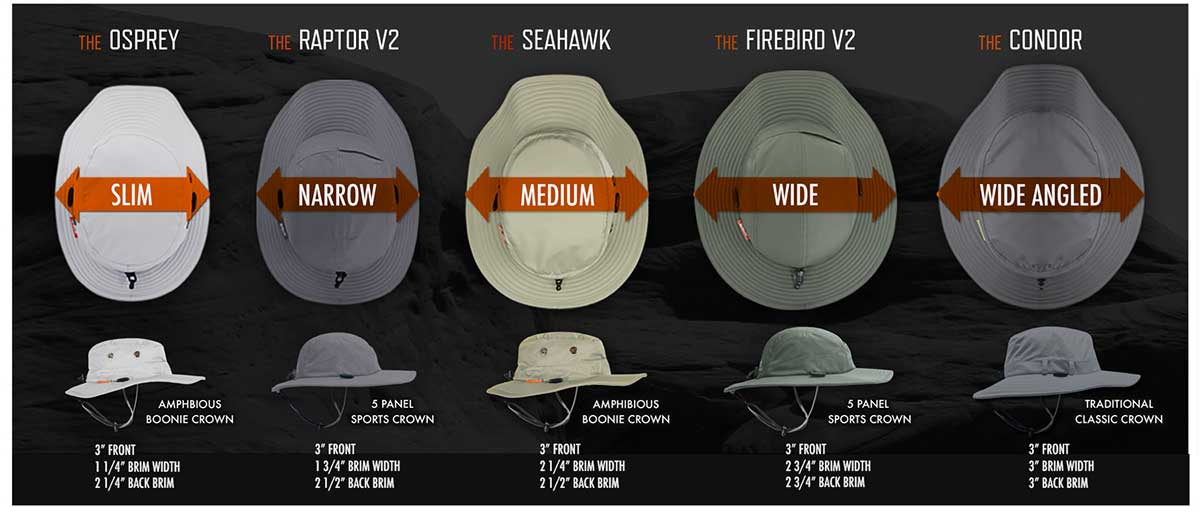 Five styles of Shelta sun hats for different uses. SPG50+ Sun protections for all your travel needs. This hat makes the best fathers day gift. For the dad who has evertything.