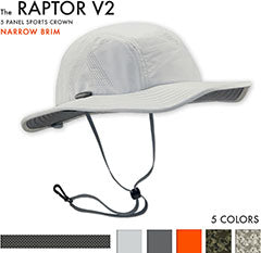 Raptor V2 Sun Hat -The Raptor Sun hat is the best Sun Hat for Jogging, trail running, fly fishing, archery, outrigger paddling, tennis, Paddle Ball and stand up paddling, sup. It is a great sun hat for canoeing, beach volleyball, hiking and golfing. It is a good sun hat for shooting, kayaking and climbing
