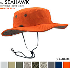 The Seahawk Sun Hats are the best sun hats for river rafting, PWC, Fishing, Wake Boarding, Sailing, Water skiing and Boating hats. The best Fishing Hats by far - Great sun hat for Stand up paddle boarding - sup - paddle surfing, wake boarding, windsurfing, hiking, rowing and golfing - and a good sun hat for surfing, shooting and fly fishing. This is the best fathers day gift idea and people with big heads