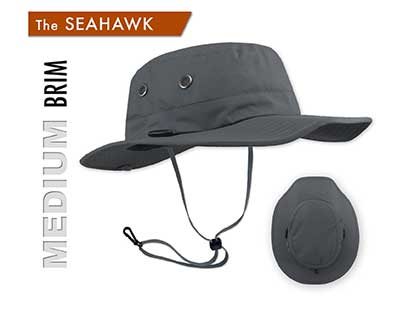 The Seahawk Sun Hats are the best upf 50  sun hats for river rafting, PWC, Fishing, Wake Boarding, Sailing, Water skiing and Boating hats. The best Fishing Hats by far - Great sun hat for Stand-up paddle boarding - sup - paddle surfing, wake boarding, windsurfing, hiking, rowing, and golfing - and a good sun hat for surfing, shooting and fly fishing. This is the best Father's Day gift idea and people with big heads