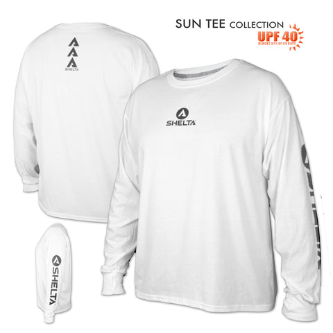 The Shelta Core Logo L/S Tee in White
