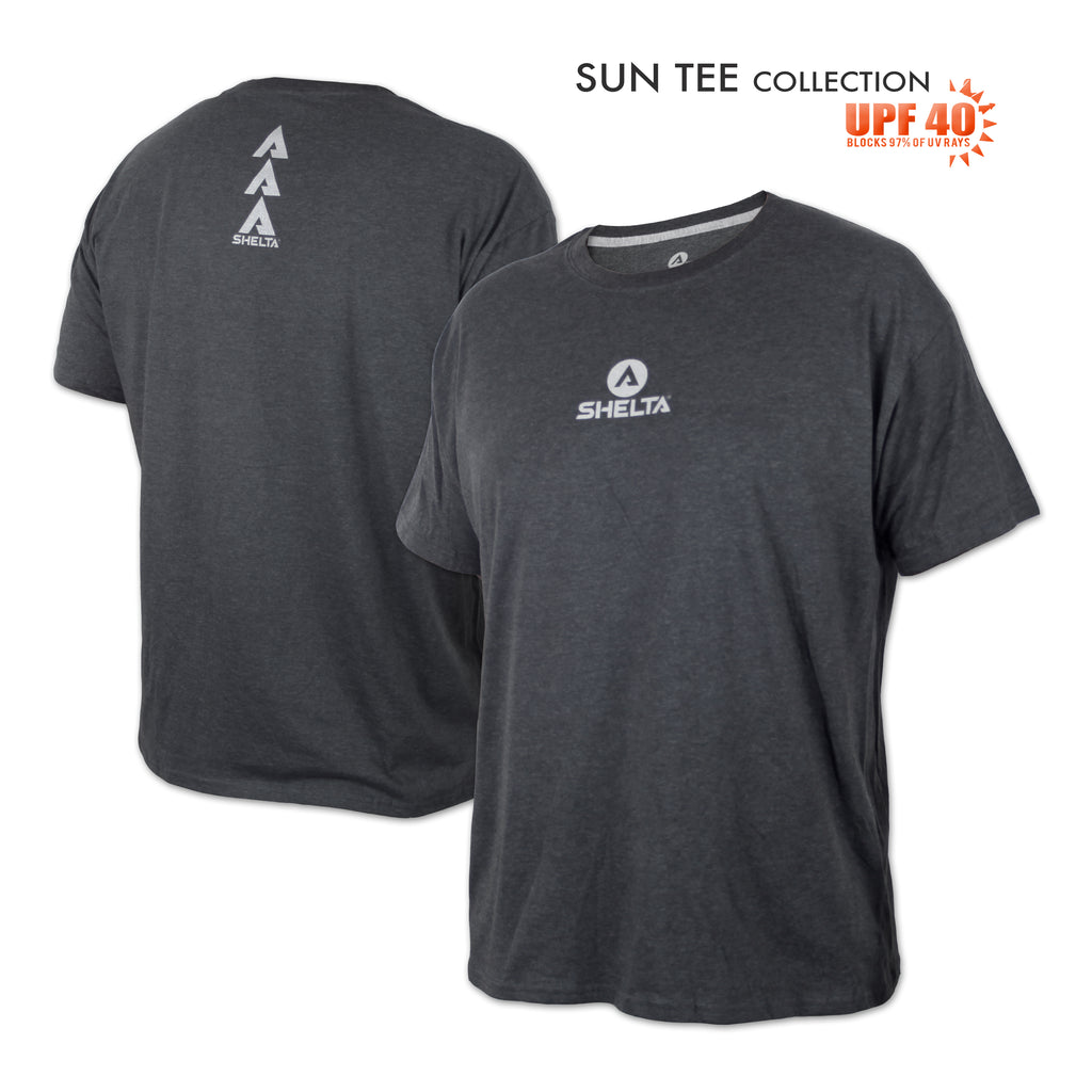 The Shelta S/S Core Logo in Heather Charcoal