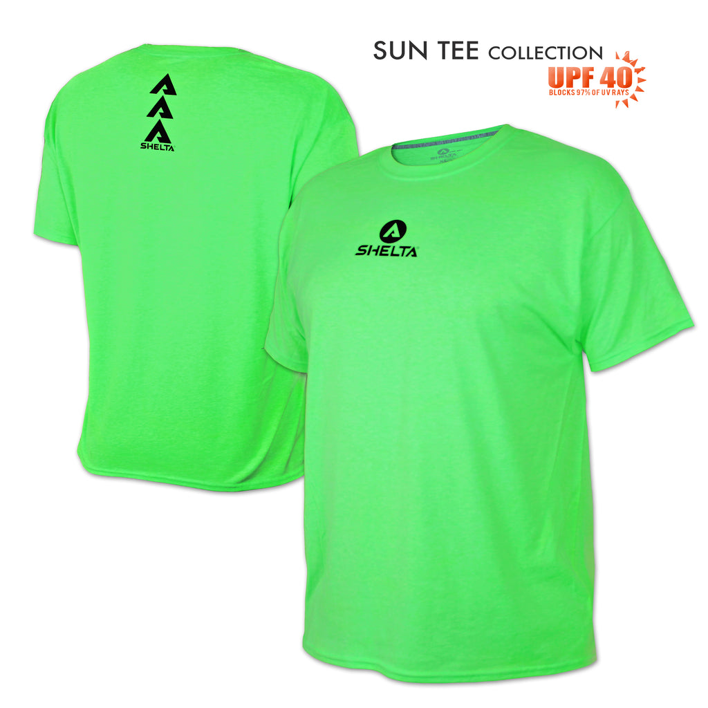 The Shelta S/S Core Logo in Neon Green
