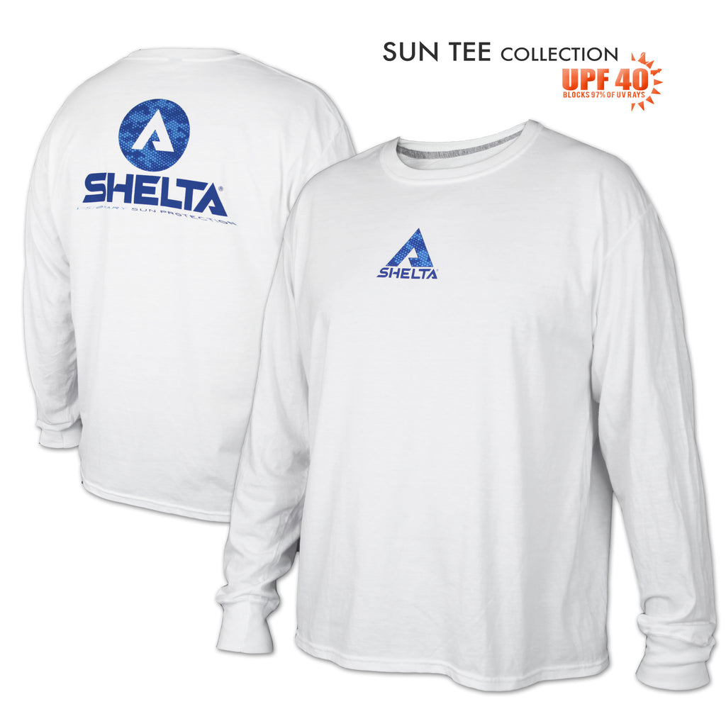 The Shelta L/S Digi Water Logo in White