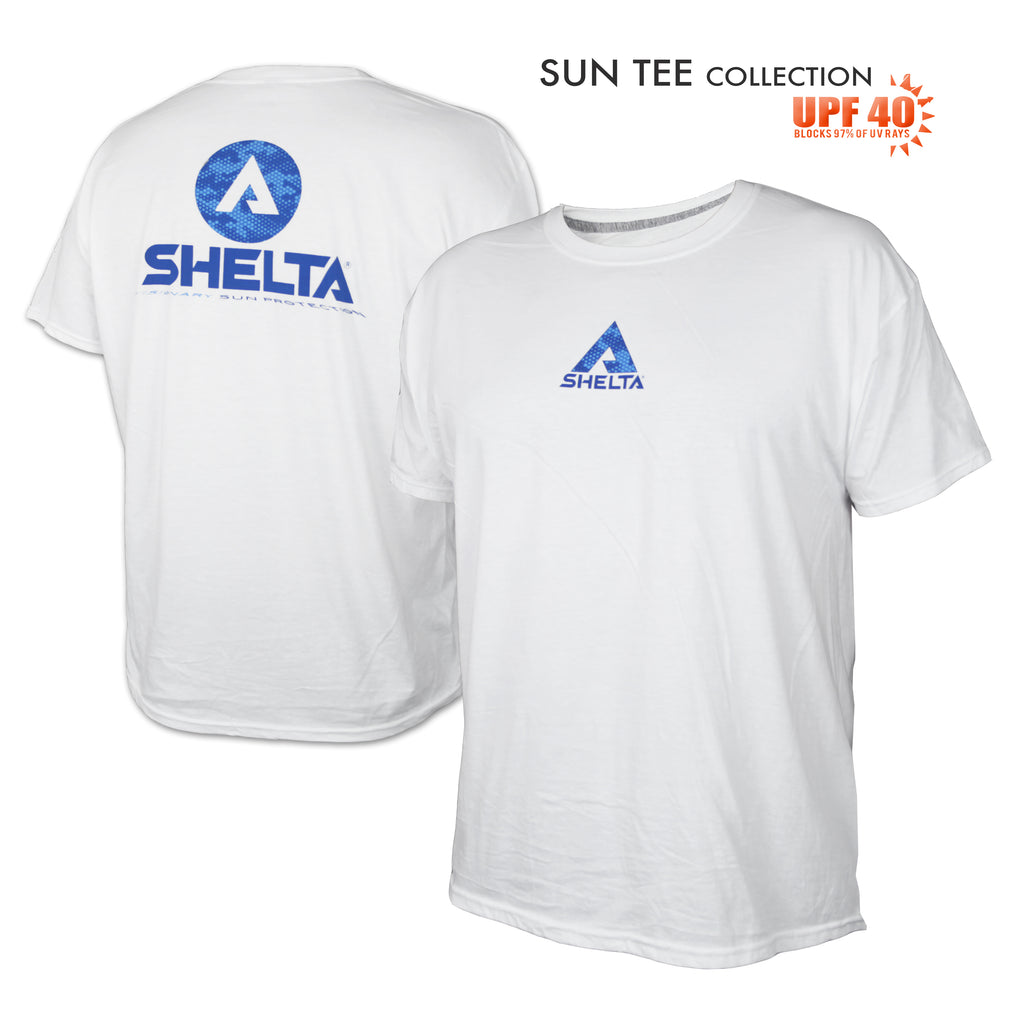 The Shelta S/S Digi Water Logo in White