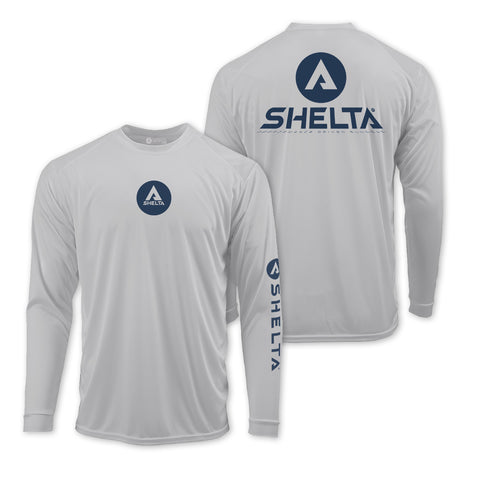 The Shelta L/S Shadow Corp in Aluminum Grey