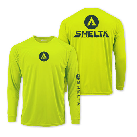 The Shelta L/S Shadow Corp in Safety Green