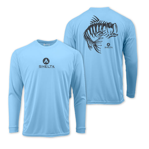 The Shelta L/S Skelebass 2 in Pale Blue