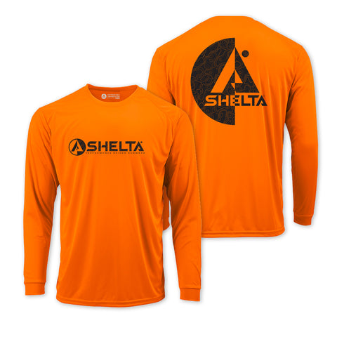 The Shelta L/S Split Topo in Bright Orange