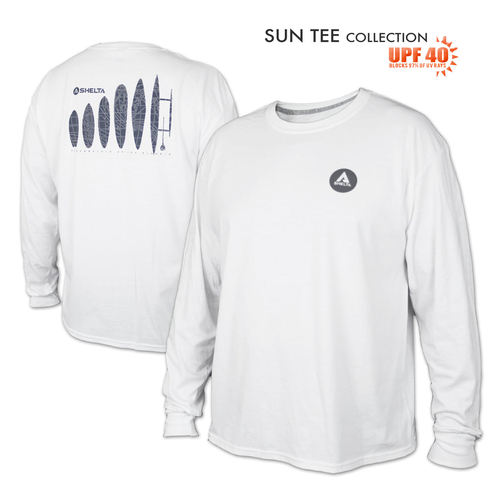 The Shelta L/S Roots Logo in White