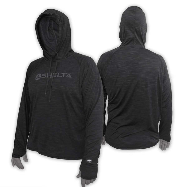 THE Shelta UNDERCOVER 2 L/S HOODED SHIRT IN HEATHER COAL