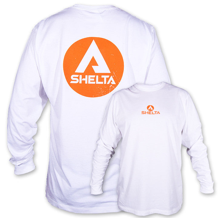 The Shelta L/S Logo White T-Shirt