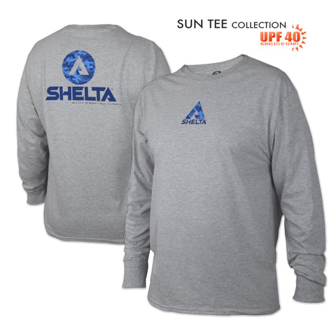 The Shelta L/S Digi Water Logo in Heather Grey