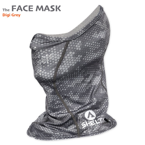 The Shelta Face Gaiter in Digi Grey