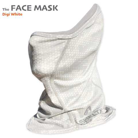 The Shelta Face Gaiter in Digi White