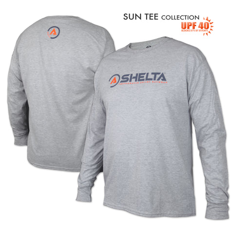 The Shelta L/S Icon Logo in Heather Light Grey