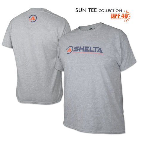 The Shelta S/S Icon Logo in Heather Light Grey