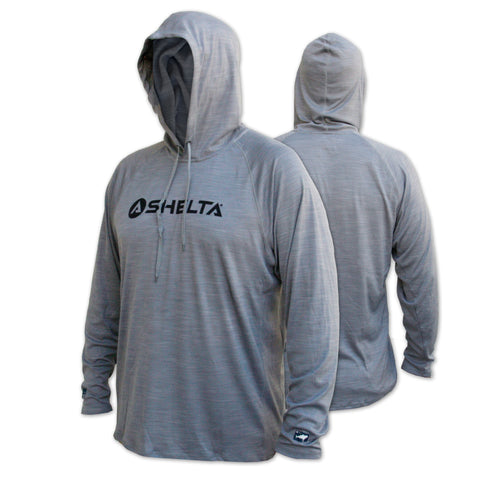 THE Shelta UNDERCOVER L/S HOODED SHIRT IN GREY