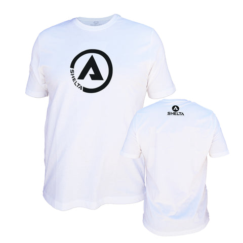 The Shelta S/S Circle A Logo Tee in White