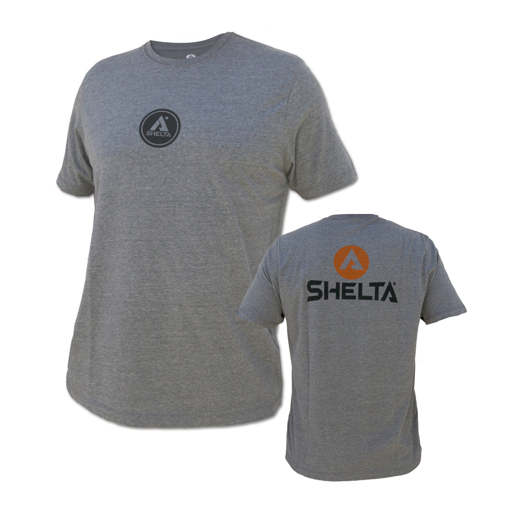 The Shelta S/S Corp Logo Tee in Grey Heather