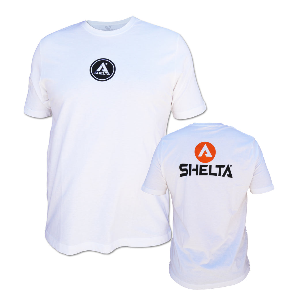 The Shelta S/S Corp Logo Tee in White